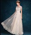 Intricately Beaded Embroidery Vanilla Cream Prom Dresses