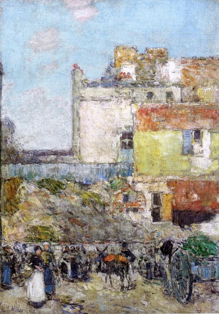 Childe Hassam 1859-1935 | American Impressionist painter | City Street Scenes