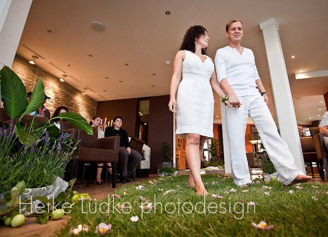 Trauung Hochzeit barfuß