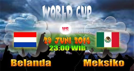 Hasil Skor Akhir: Belanda vs Meksiko 16 Besar Piala Dunia 29 Juni 2014