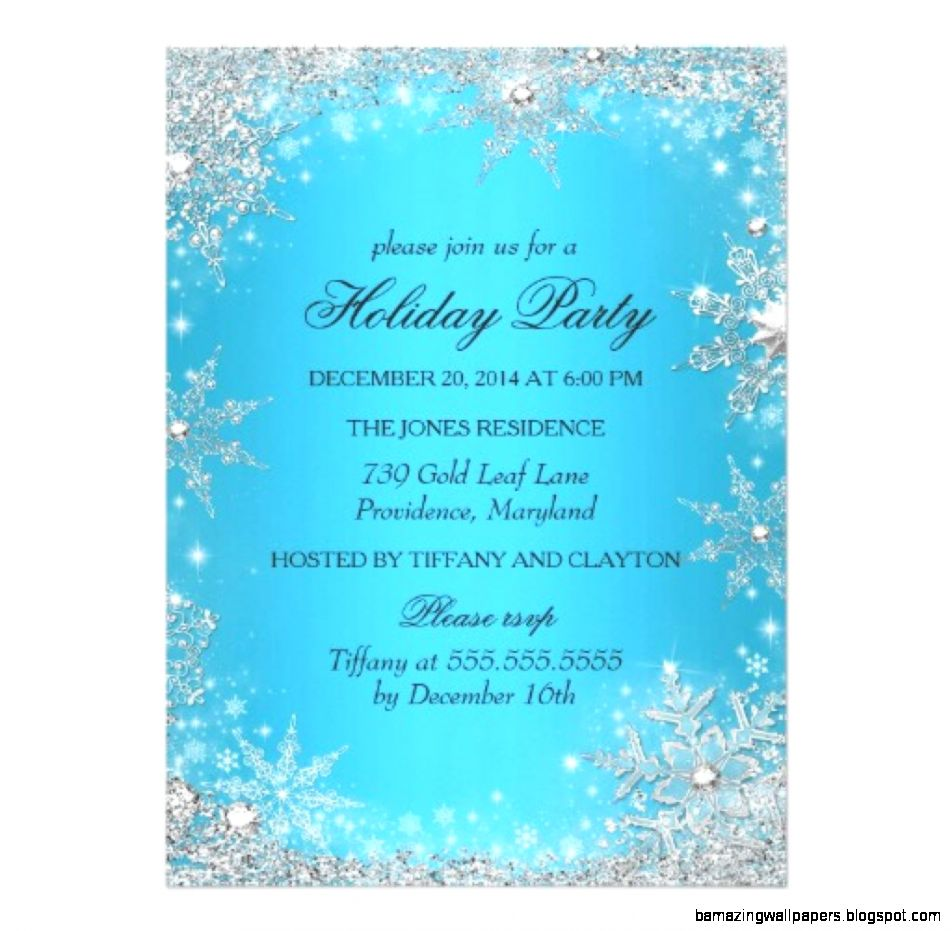 Winter Wonderland Party Invitation Template 70353  WEBNODE