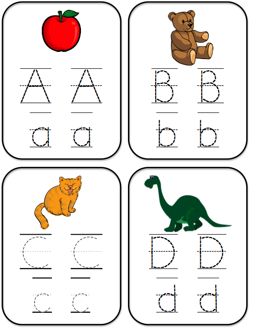 Bright Ideas for Early Learning: ABC Tracing Cards