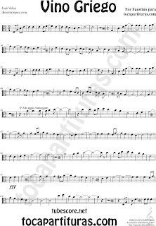 Partituras de Vino Griego en Clave de  Do en 3º Línea para Viola Sheet Music for Viola in C Clef Music Scores