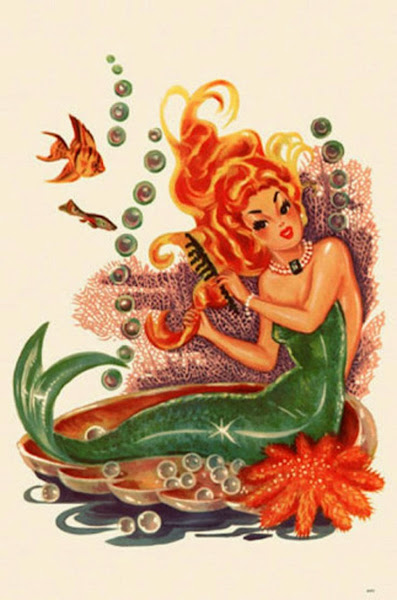 Vintage Mermaid Art