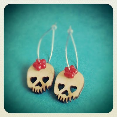 Girl Skull Earrings