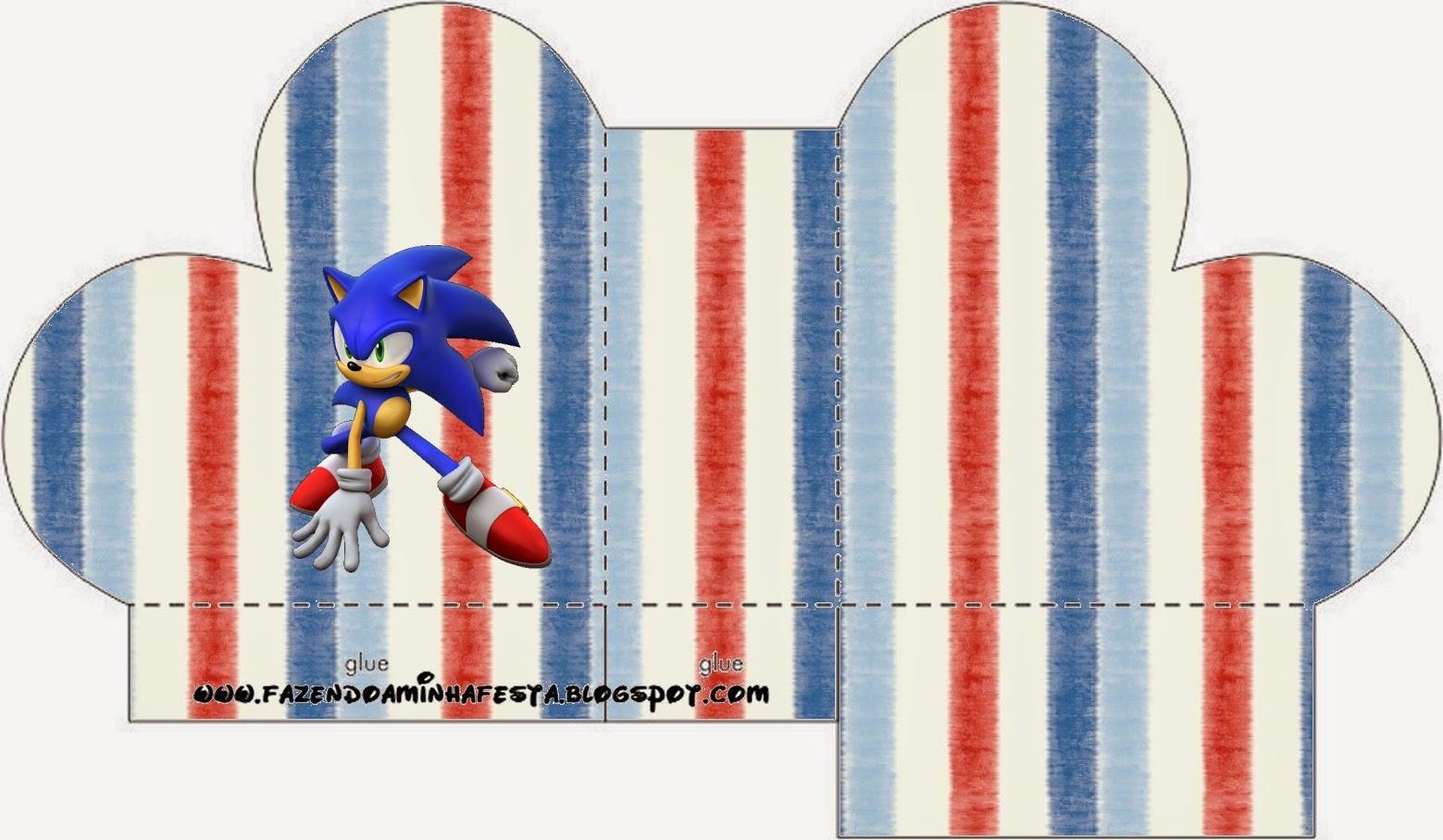 Caja abierta en forma de corazón de Sonic.