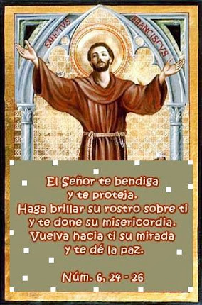 Bendición de San Francisco al hermano León