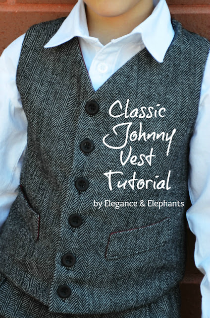 boys vest sewing tutorial