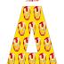 Alfabeto de Iron Man en Fondo Amarillo.