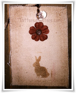 Primitive Easter Bunny Tag