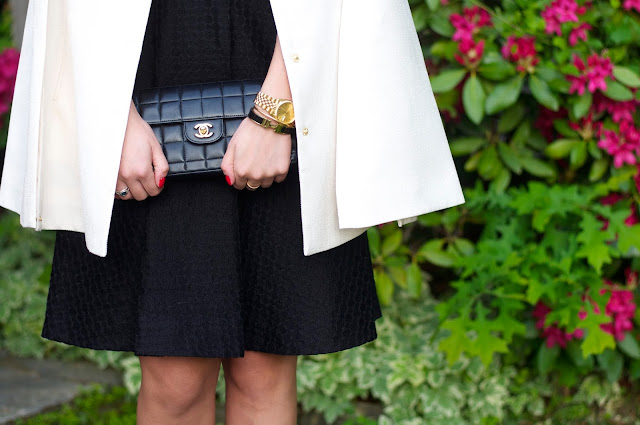 chanel bag and lbd