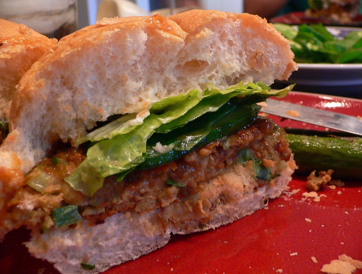 Chickpea-Falafel Burger with Cucumber | Sephie\'s Kitchen