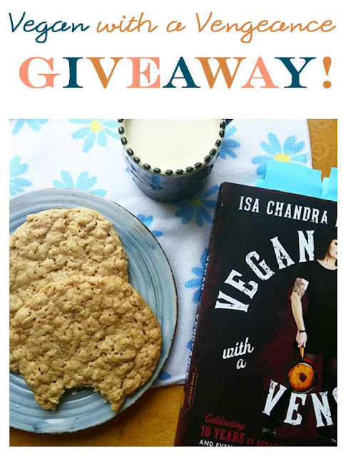 Enter to win 1 of 3 copies of the fab Vegan with a Vengeance cookbook, 10th anniversary edition, via Woman in Real Life.