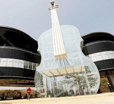مبنى على شكل آلة كمان وبيانو فى الصين !!!!!
