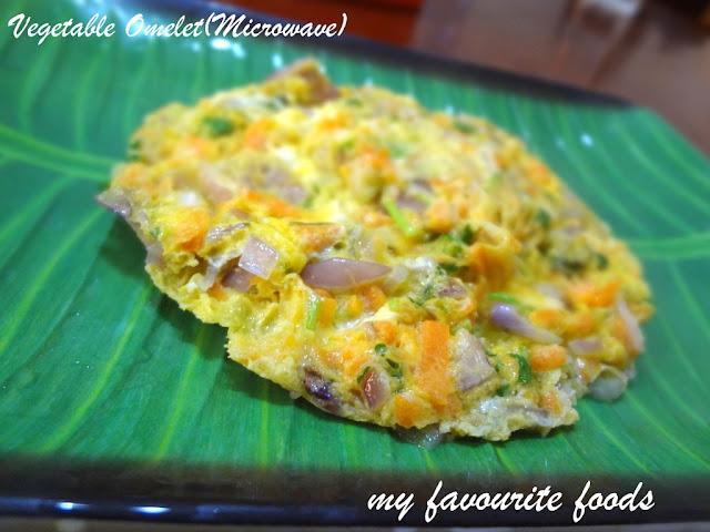 Vegetable Omelet (microwave)
