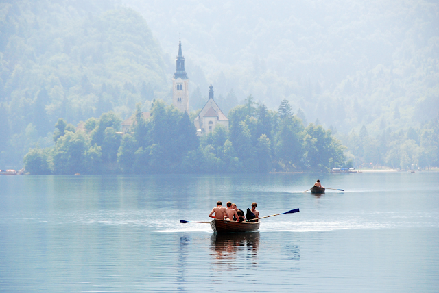 beautiful summer on lake bled slovenia