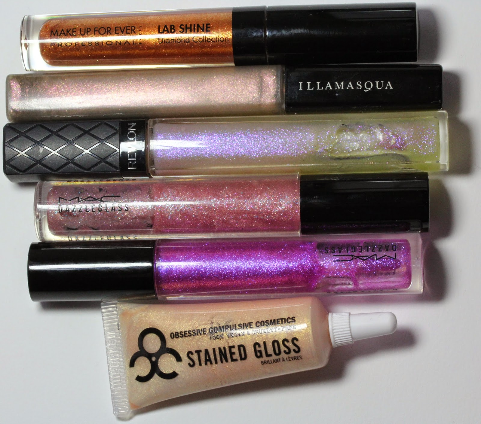 Sparkly lip glosses