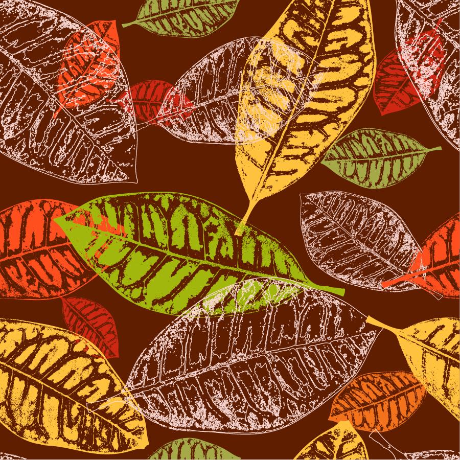 秋の枯れ葉の背景 autumn tree leaves background イラスト素材 | ai