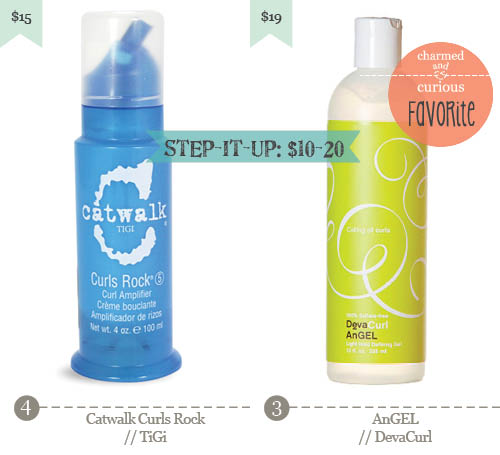 3. Catwalk Curls Rock – TiGi, 4. AnGEL - DevaCurl