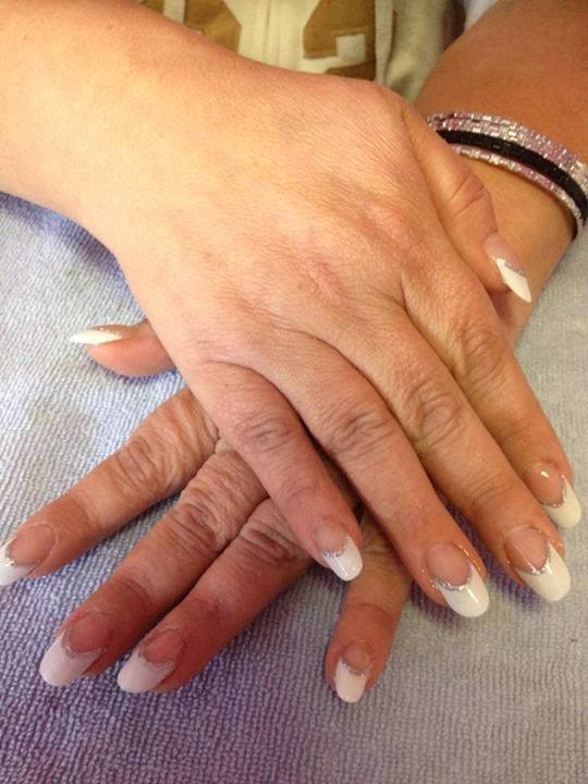 sculpted classic white Frenchies in a lovely long rounded almond shape-LED-polish-manicure-natural-nails-classic-French-acrylics-simple-nail-art-acrylic-gelish-gel-Nail-Polish-OPI-Lacquer-Pedicure-care-natural-healthcare-LED-polish-manicure-natural-nails-classic-French-pink-crystal-acrylics-simple-nail-art-acrylic-backfill-gelish-colour-pink-silver-gel-OPI-Lacquer-Pedicure-care-natural-healthcare-Gel-Nail-Polish-beauty-nails-Nail-Art-USA-UK