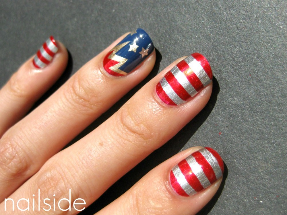 Nailside 4th of july nails i hope you guys like my first 4th of july nails and that they may have even inspired you to make a cute mani for monday thanks for reading solutioingenieria Choice Image