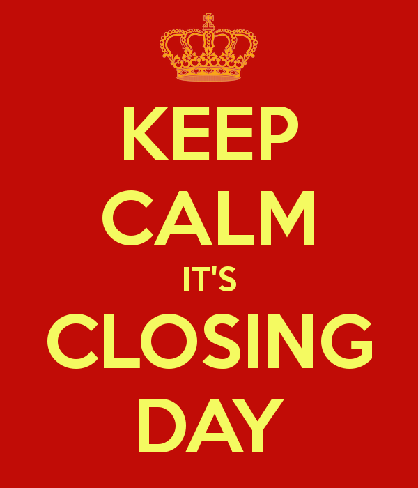 When you buy a house. Is the closing day the same as the purchase day?