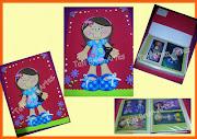 Capa Album fotos decorada com EVA. Fiz essa capa para album de fotos dos . (album foto decorado com eva)