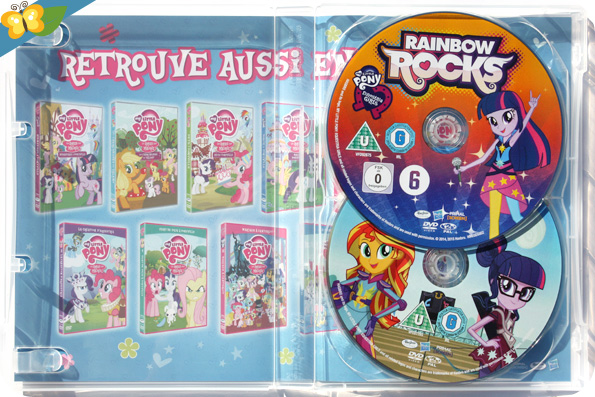 Equestria girls : Coffret édition limitée 2 DVD - Rainbow Rocks et Friendship Games