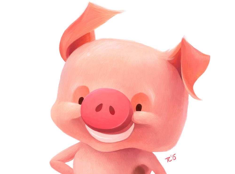 TEGAN CLANCY: 3 Little pig character design update