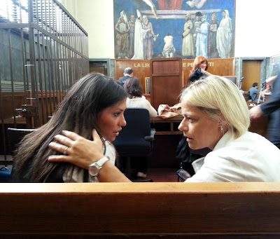 Model Imane Fadil with her lawyer (Danila De Domenico) in court, for the Rubygate 2 proceedings