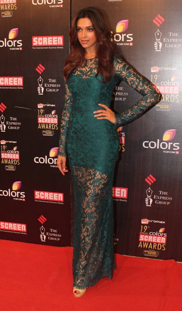 Deepika Padukone at Micromax 19th Annual Colors Screen Awards 2013