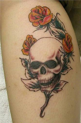 Skull tattoos for girls all about for Girl head tattoo