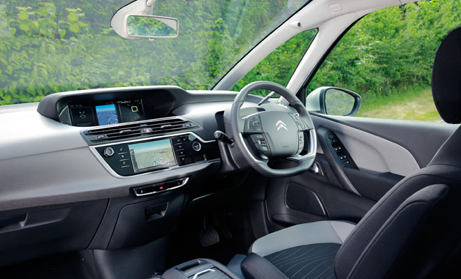 New Citroen C4 Picasso front interior