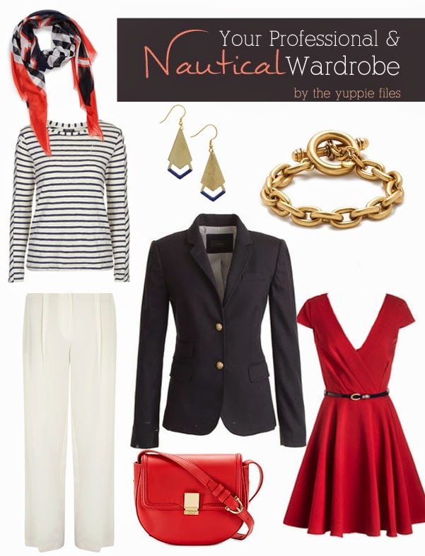 Nautical (Professional) Work Wear guest post from The Yuppie Files