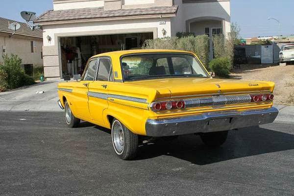Bright Yellow 1964 Mercury Comet Caliente V8 Auto