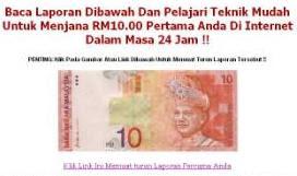 menjana RM10 pertama di internet