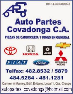 AUTO PARTES COVADONGA, C.A. en Paginas Amarillas tu guia Comercial