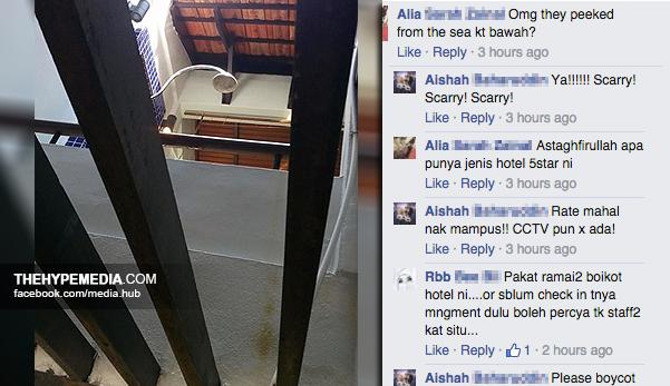 Wanita ini dedah 'diintai' staf Avillion Hotel Group ketika sedang mandi tetapi pihak hotel seperti acuh tidak acuh