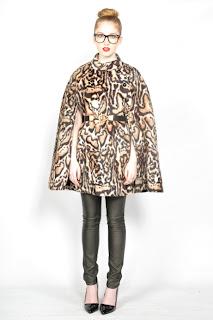 Vintage 1960's leopard print mod style cape.