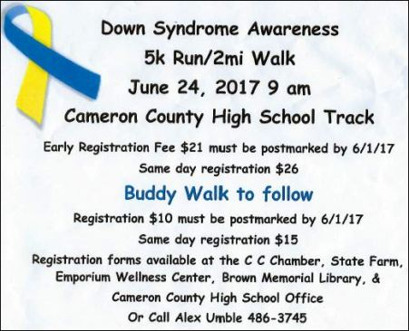6-24 Down Syndrome 5K Run/2 Mile Walk