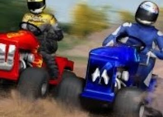 Jogos online, Corrida, Maluca, Cortador de Grama, Jogos em Flash, Lawnmower Racing 3D