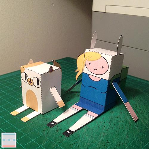 Fionna Cake Peppermint Butler Papercraft