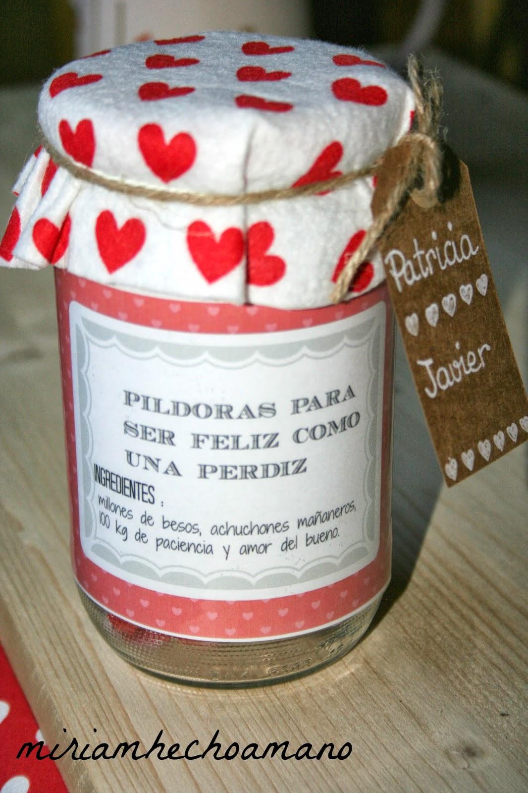 Miriam hecho a mano pildoras para ser feliz como una perdiz - Regalos originales para casa ...