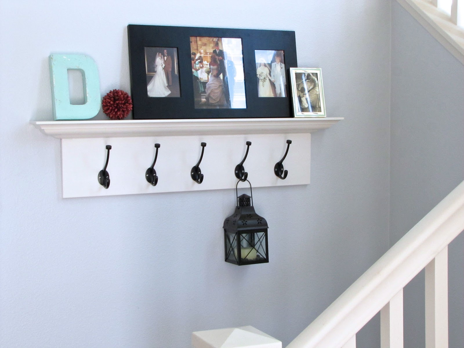 white with wall decofurnish grace designs shelf kian kiera hooks wooden pegs for tiered entryway