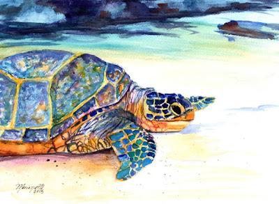 Turtle at Poipu Beach 2