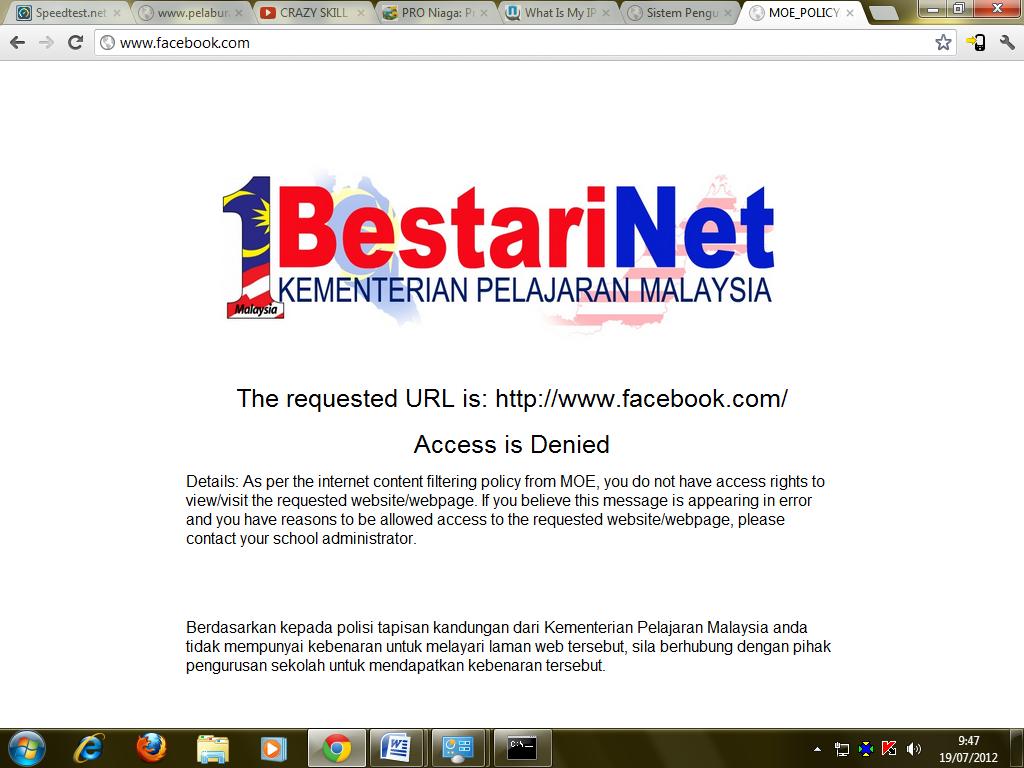 Alhamdullilah Line internet 1Bestarinet telah dipasang di Sekolah