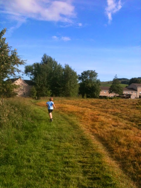 running round the meadow