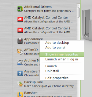 how to customize linux mint menu
