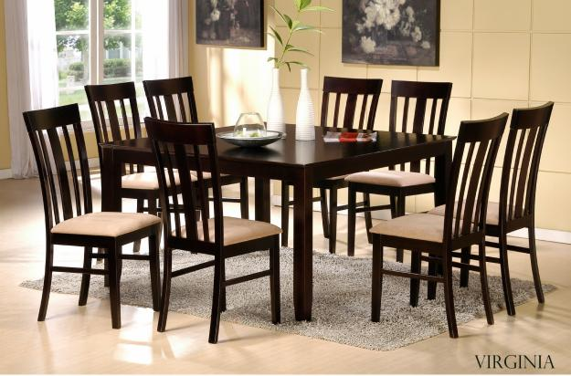 62505740 1 BEAUTIFUL 9pc Dining Set Dining Table 8 Chairs Espresso