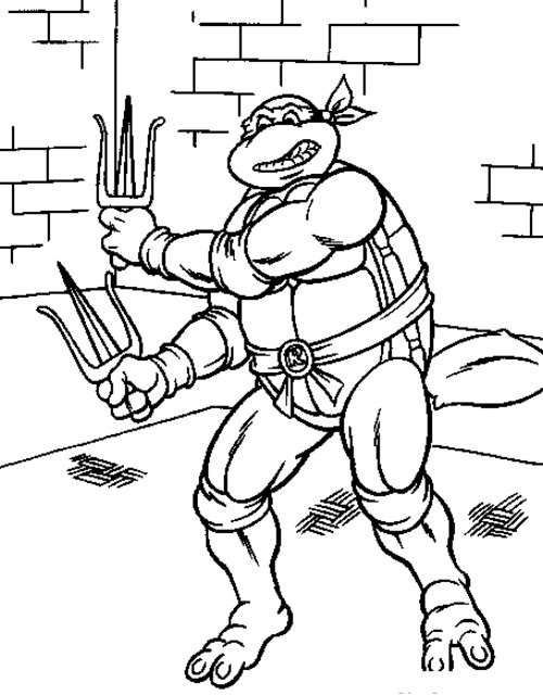 free ninja turtle coloring pages - photo#21